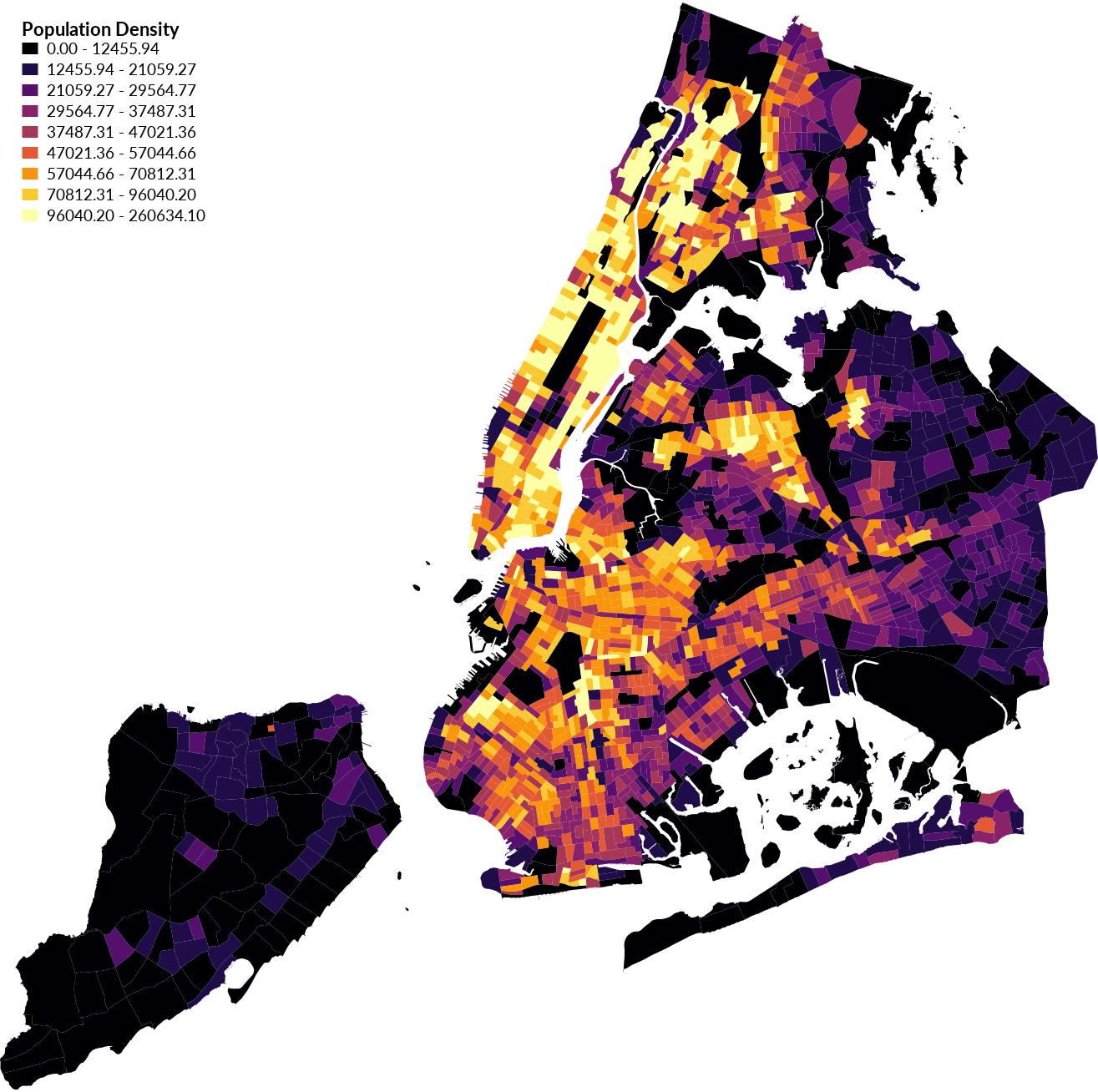 Nyc population density